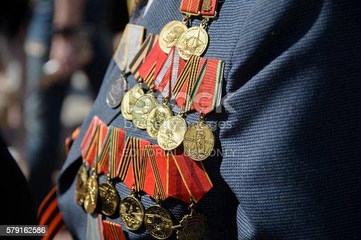istock Medals veteran 579162586