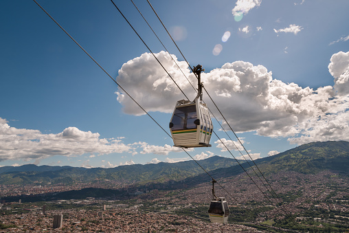 Medellin cable car. Colombia