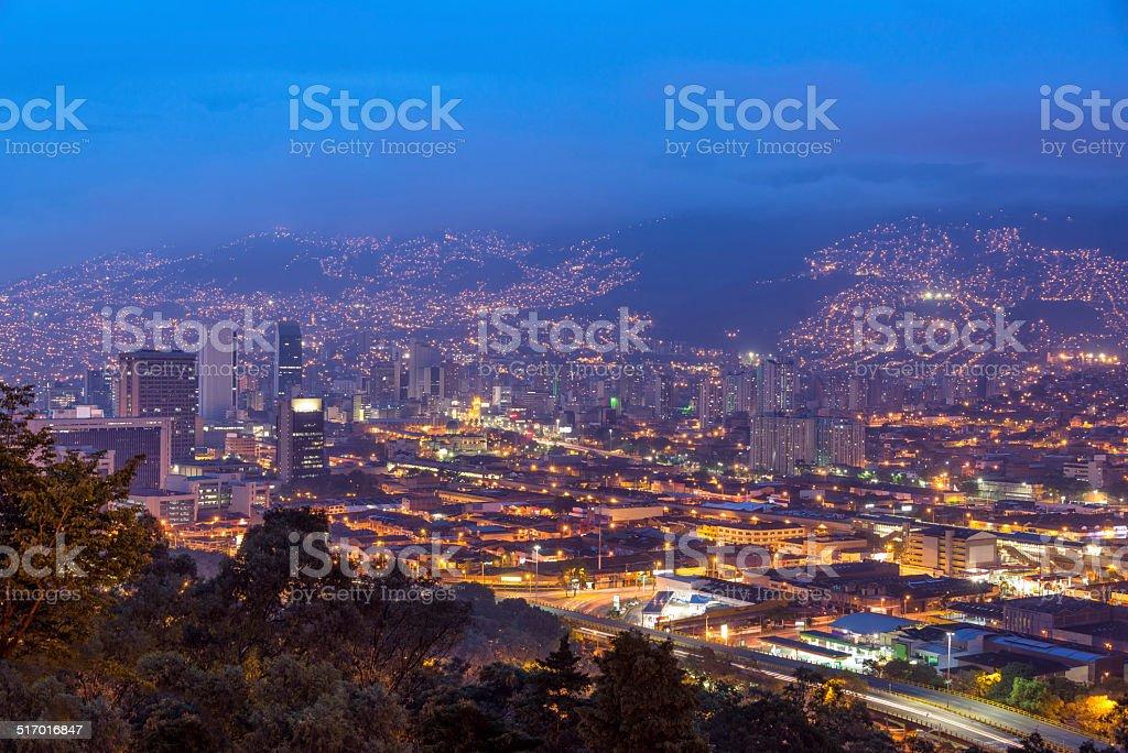 Medellin Cityscape stock photo