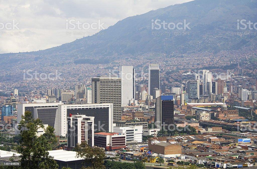 Medellin downtown stock photo