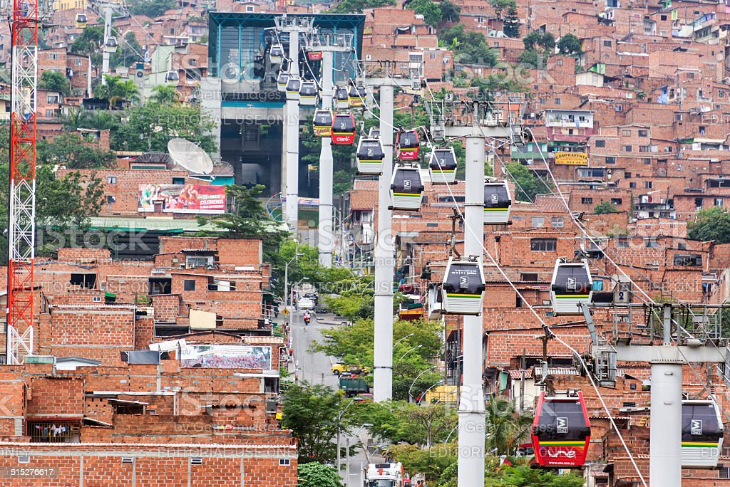 Medellin Metro Cable Cars stock photo
