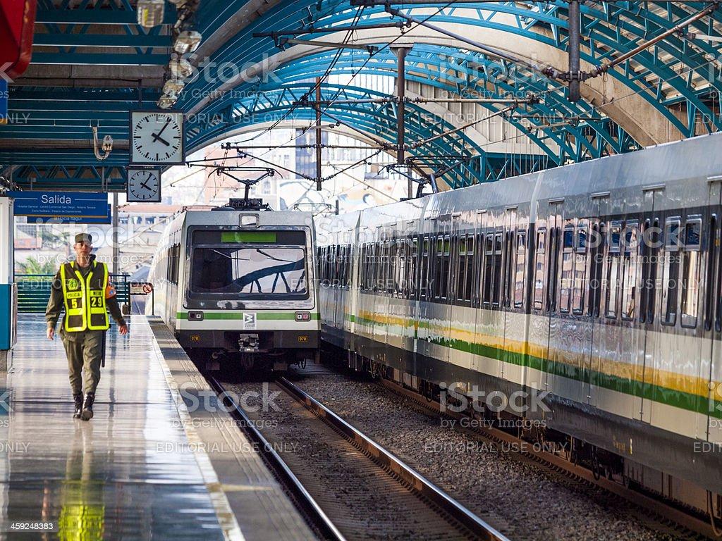 Medellin Metro Railway stock photo