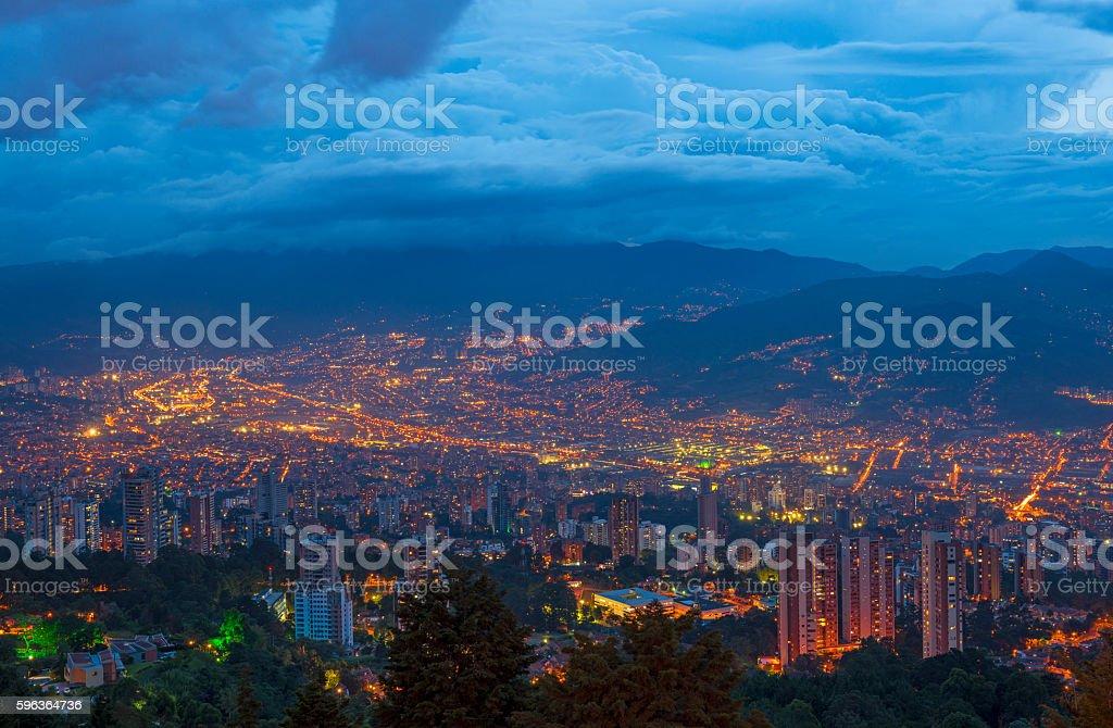 Medellin Skyline stock photo