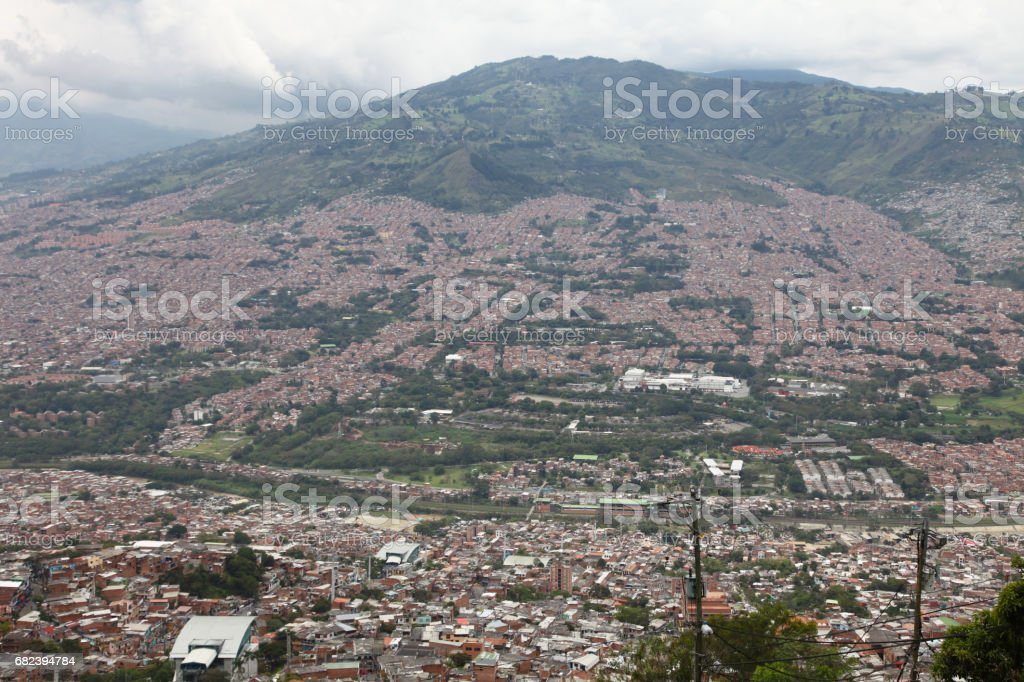 Medellin slums, Colombia photo libre de droits