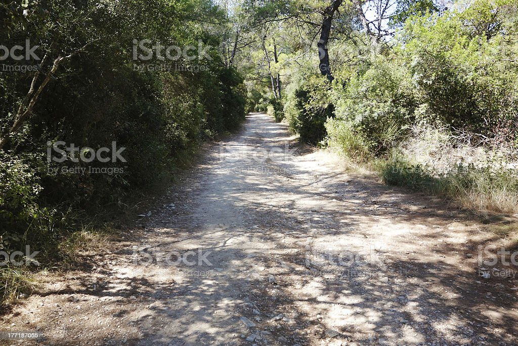 Medeteranian road. royalty-free stock photo