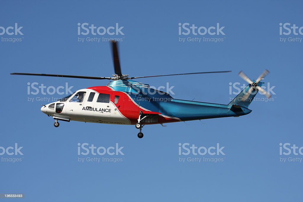 Medevac Helicopter in Flight royalty-free stock photo