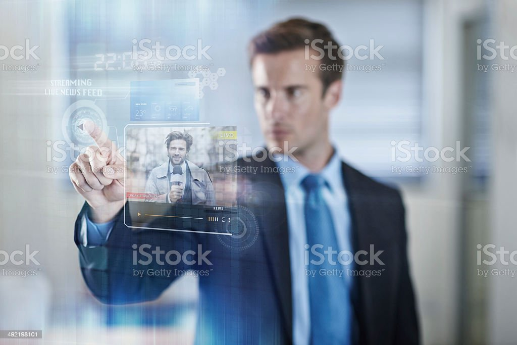 Media at a simple touch stock photo