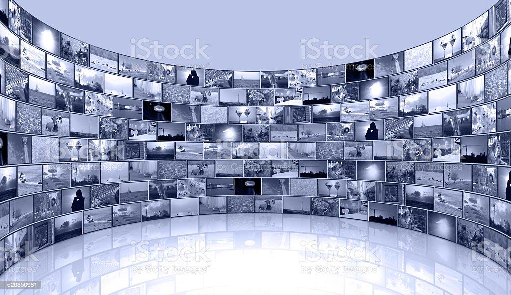 media background - telecommunications and TV stock photo