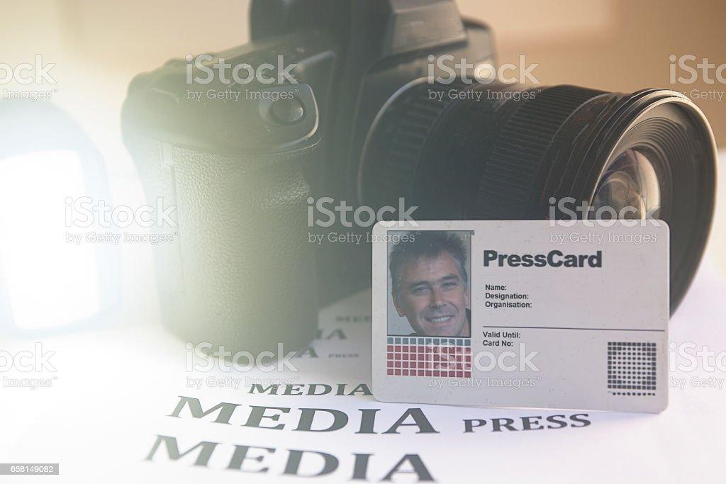 Media camera stock photo