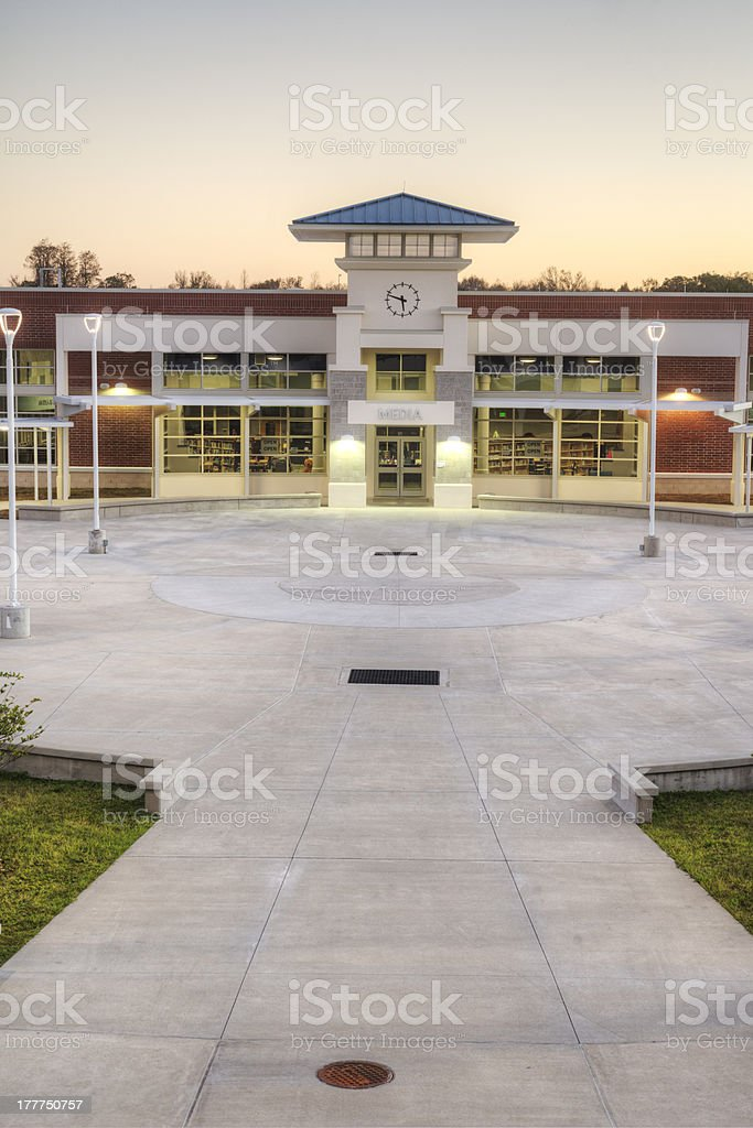 Media Center at High School stock photo