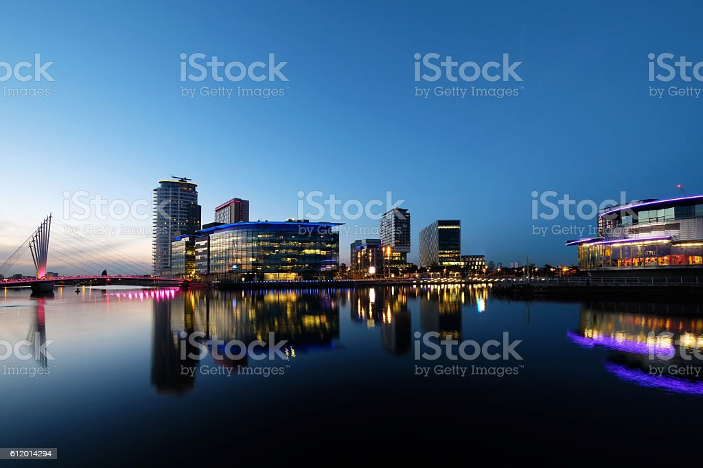 Media City at salford Quays stock photo