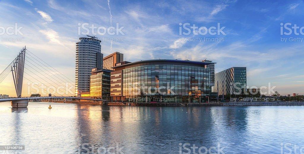 Media City on Salford Quays stock photo