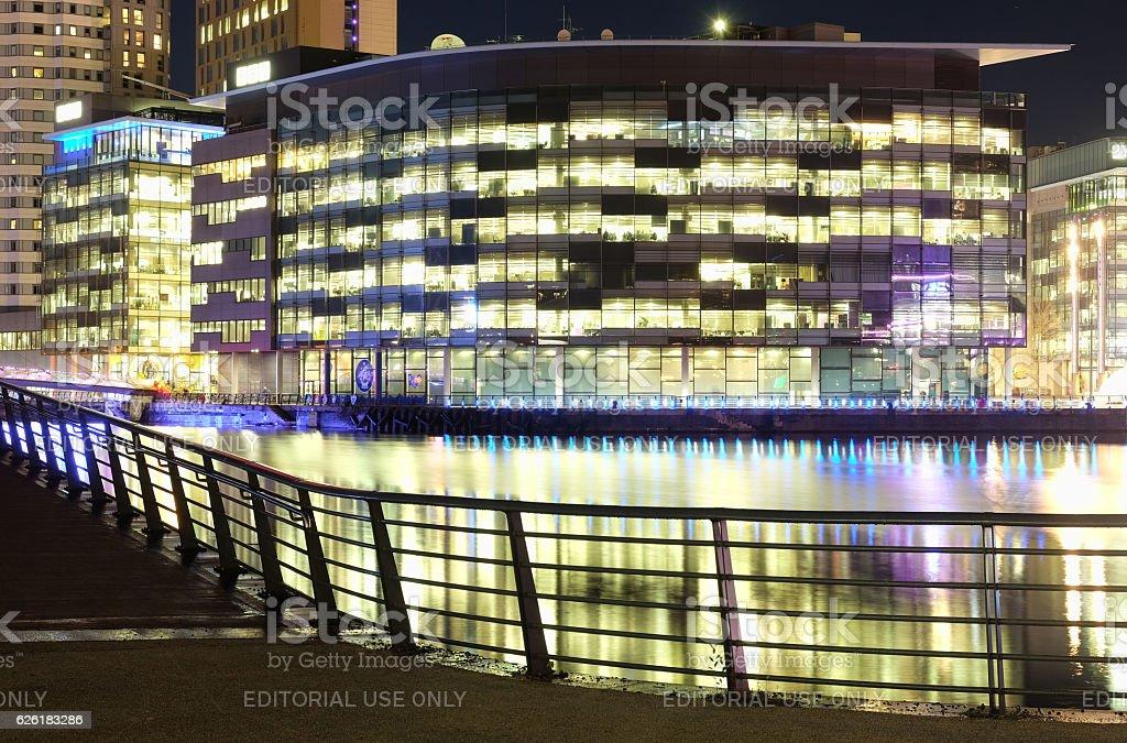 BBC Media City, Salford Quays, Manchester stock photo