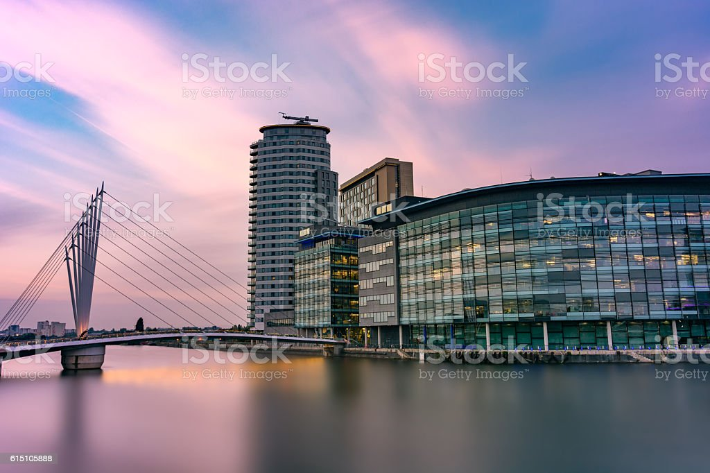 Media City, Salford Quays, Manchester, UK. stock photo