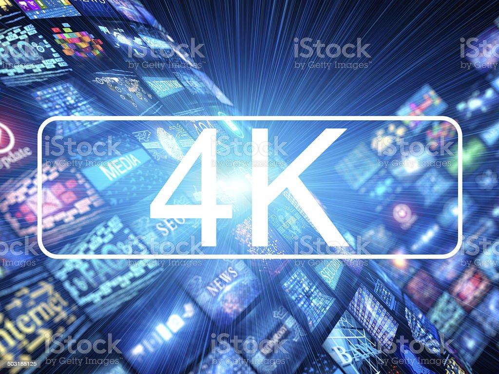 Media concept 4k stock photo