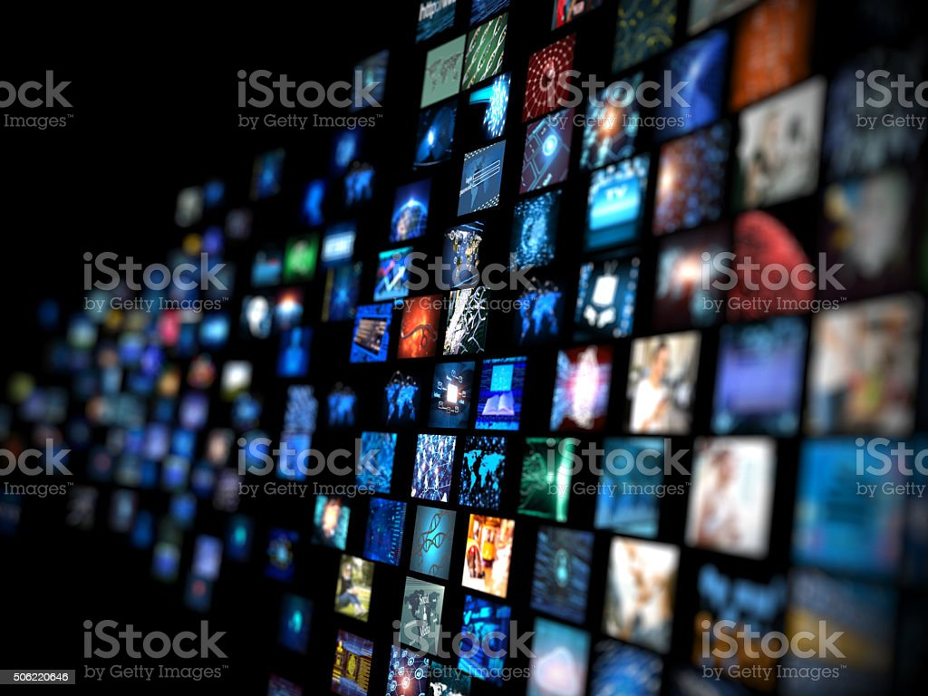 Media concept smart TV royalty-free stock photo