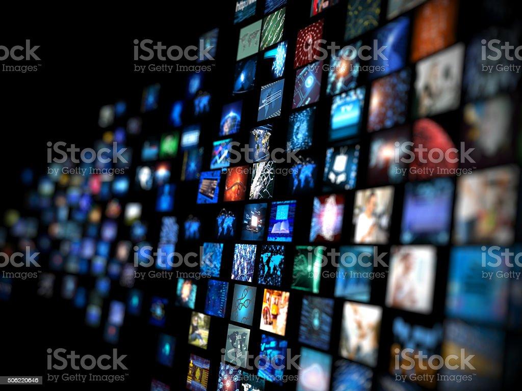 Media-Konzept-smart TV – Foto