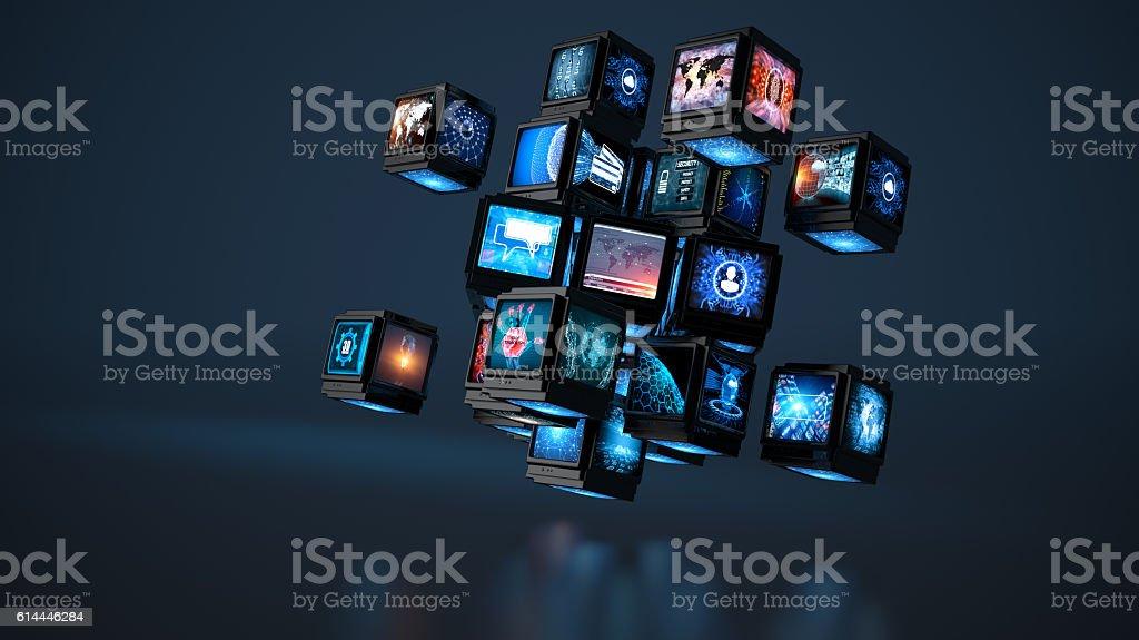 Media concept smart TV - Photo
