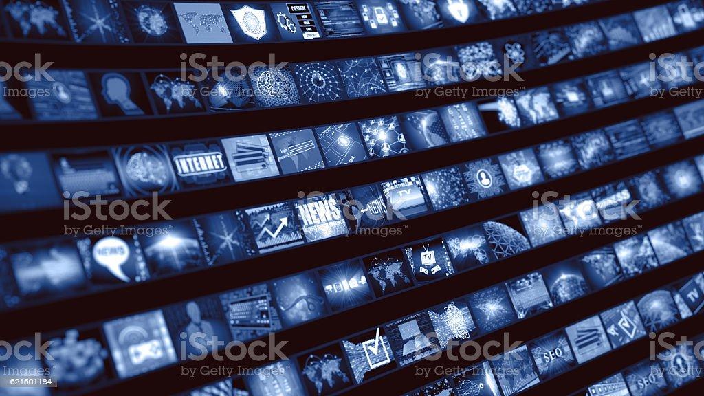Concetto di smart TV foto stock royalty-free