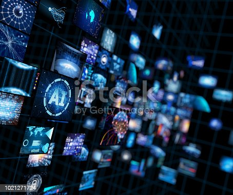 Video wall with small screens digital concept  Reference Earth Map taken from open source: http://visibleearth.nasa.gov/view_rec.php?vev1id=11656  Software used: 3dsMax Date of creation (rendered) - 26.08.2011 All layers used