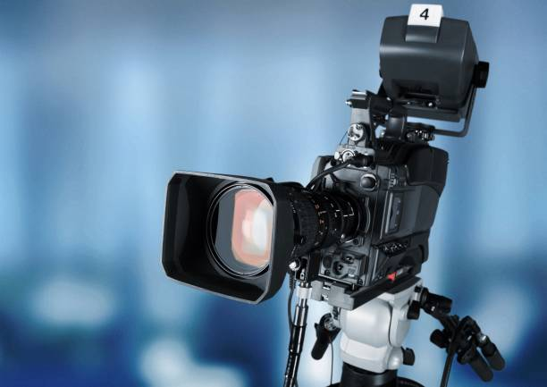 Media equipment. stock photo