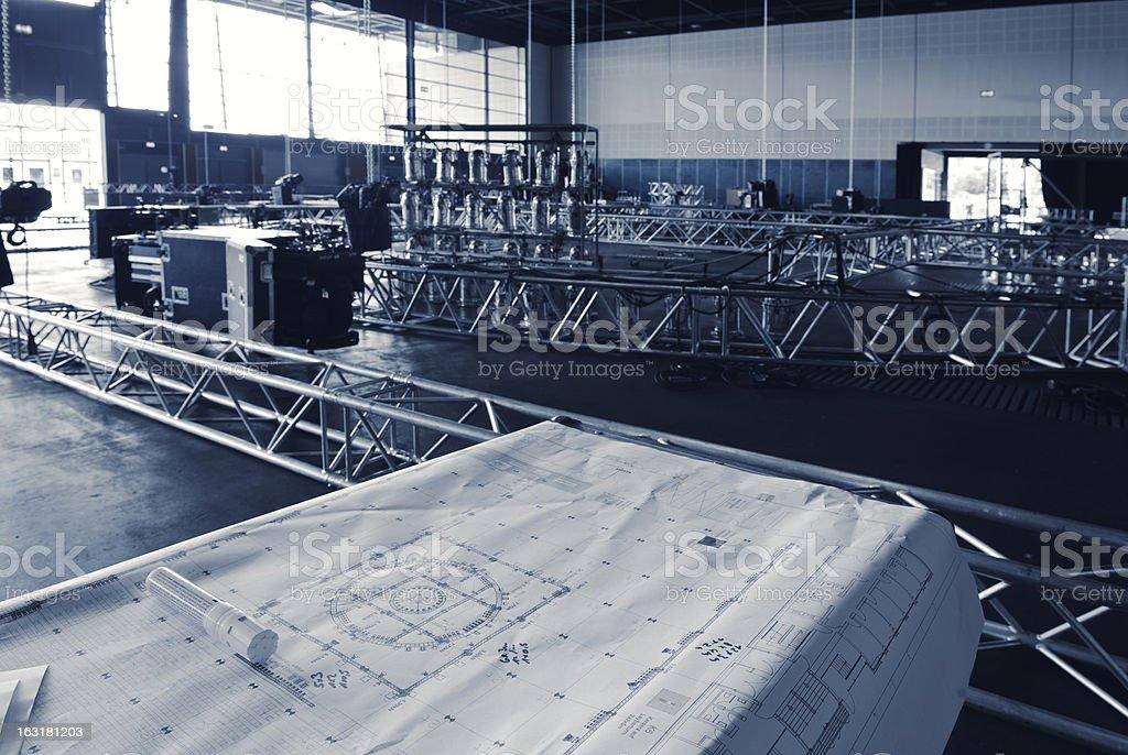 Construction plan, Truss, Sound- and Lightequipment - toned - Adobe...