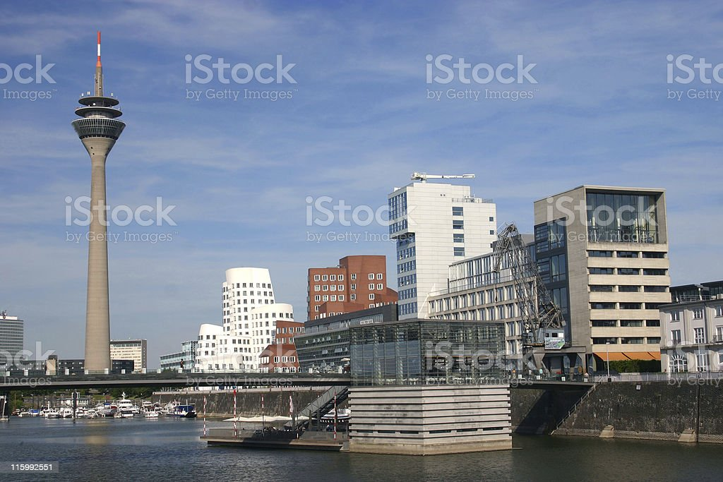 Media Harbor in Düsseldorf stock photo