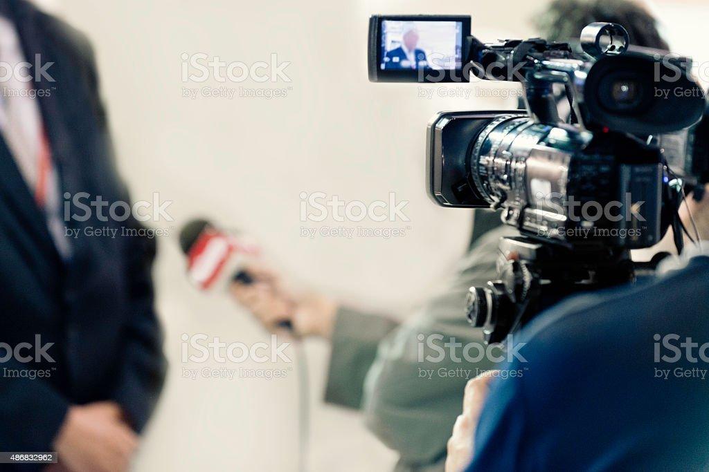 TV Media Interview stock photo
