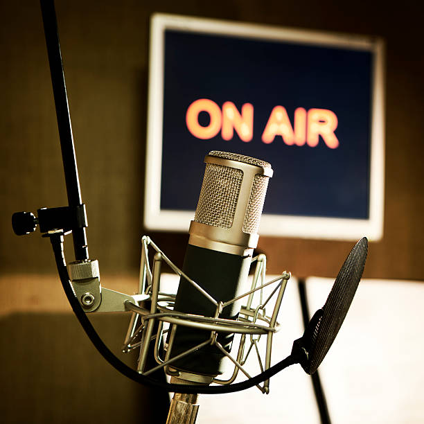 media: on air - radio station stock photos and pictures