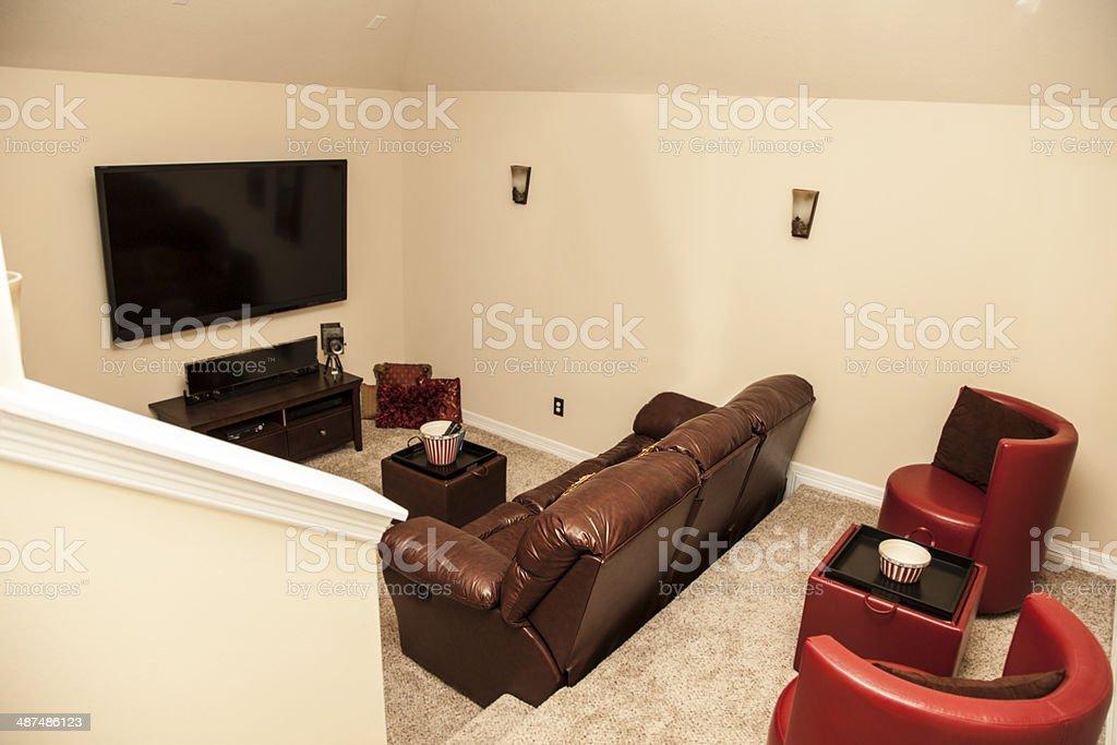 Large TV, Sofa, Seating. Royalty