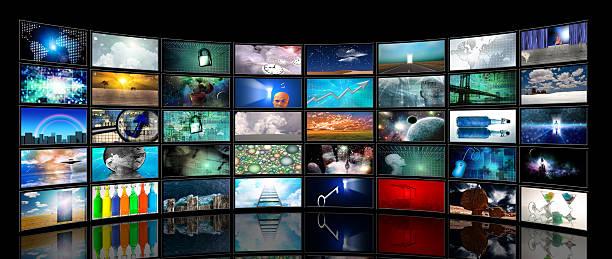 medien-bildschirmen - flüssigkristallanzeige stock-fotos und bilder