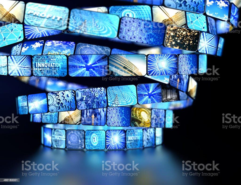 media screens royalty-free stock photo