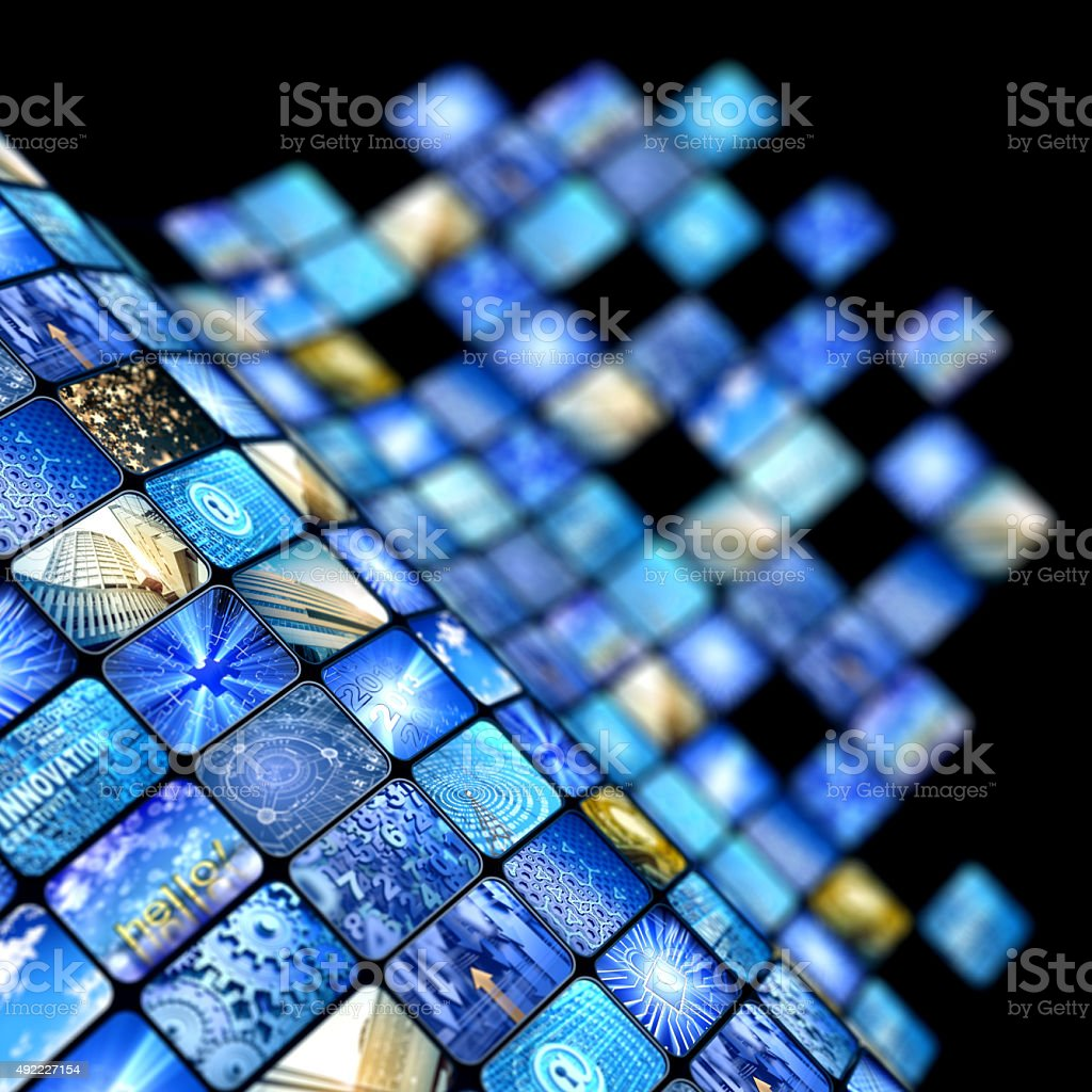 media screens stock photo
