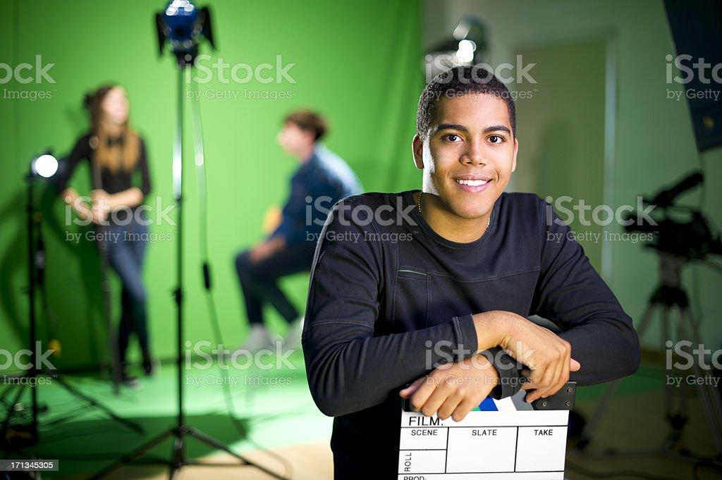 media student in the studio royalty-free stock photo