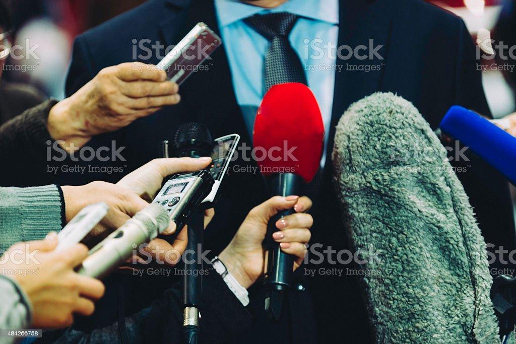 Media surrounding VIP stock photo