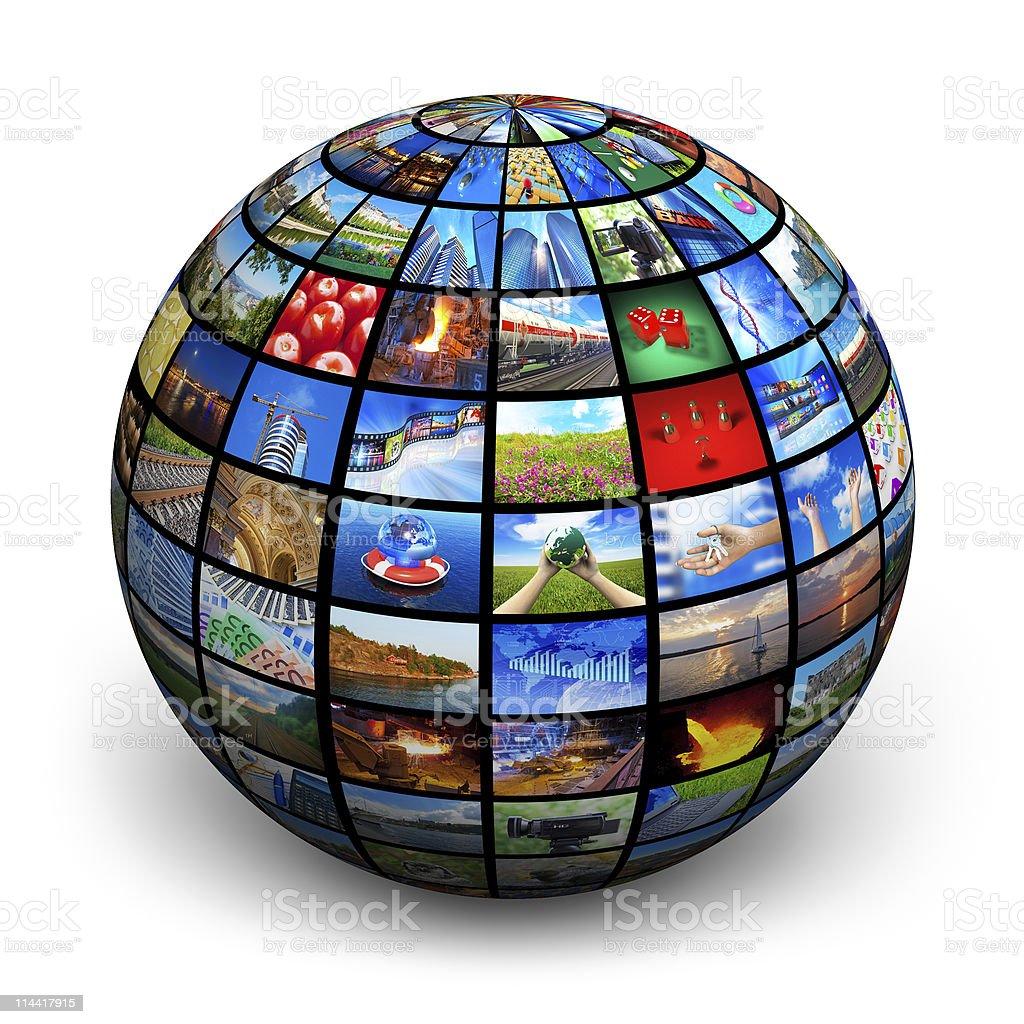 Media technology concept royalty-free stock photo