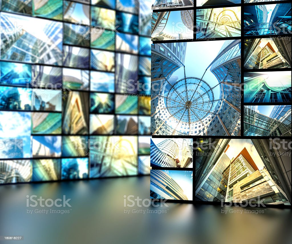 media walls with architectural photography royalty-free stock photo