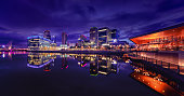 Manchester England Salford Quays Office Buildings and Apartments