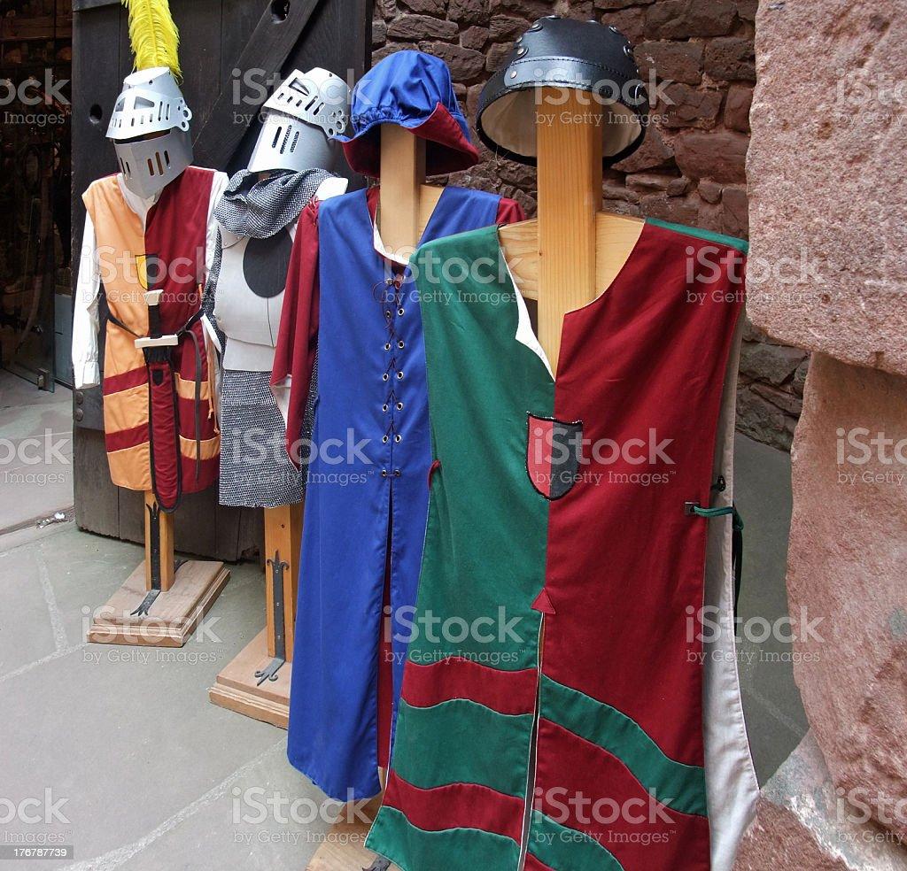 mediaeval tunics royalty-free stock photo