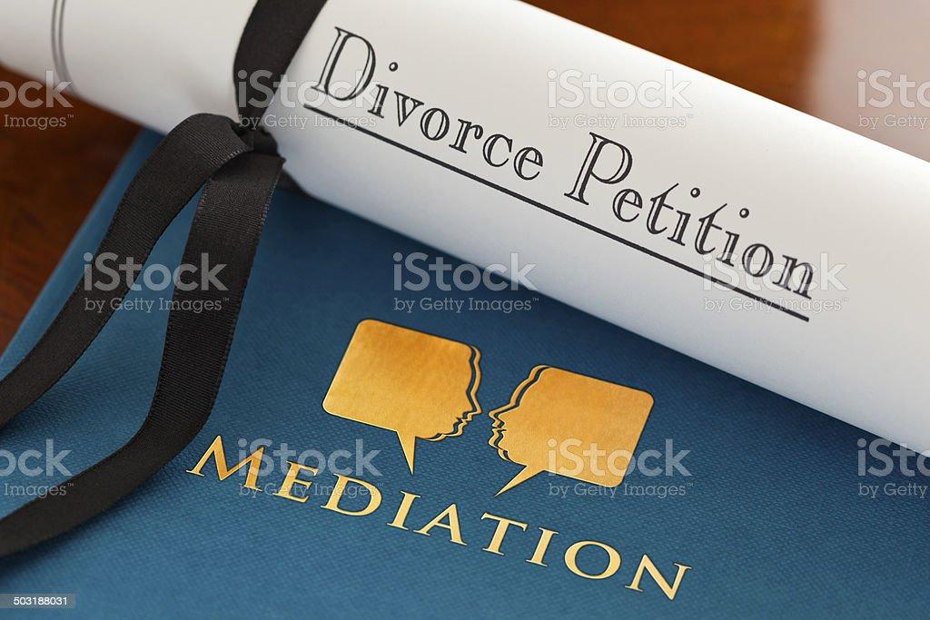Mediation in Divorce stock photo