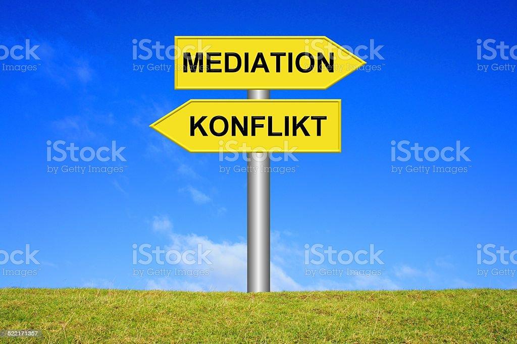 Mediation or arbitration stock photo