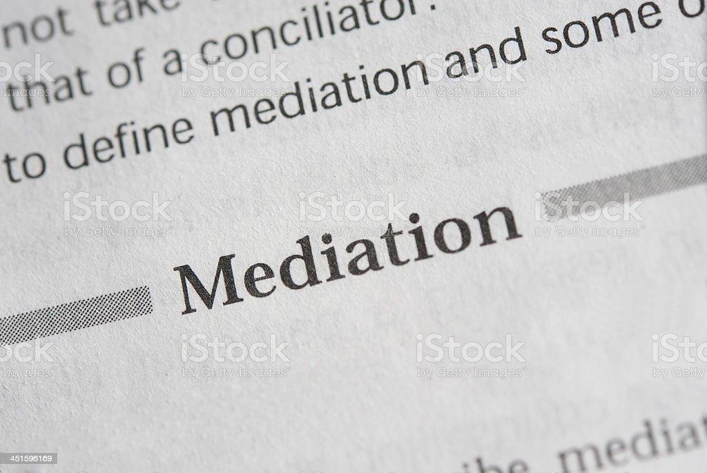 Mediation stock photo