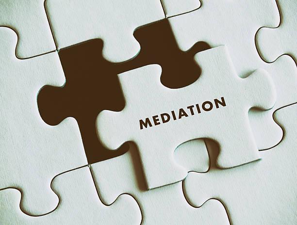 Mediation puzzle concept. – Foto