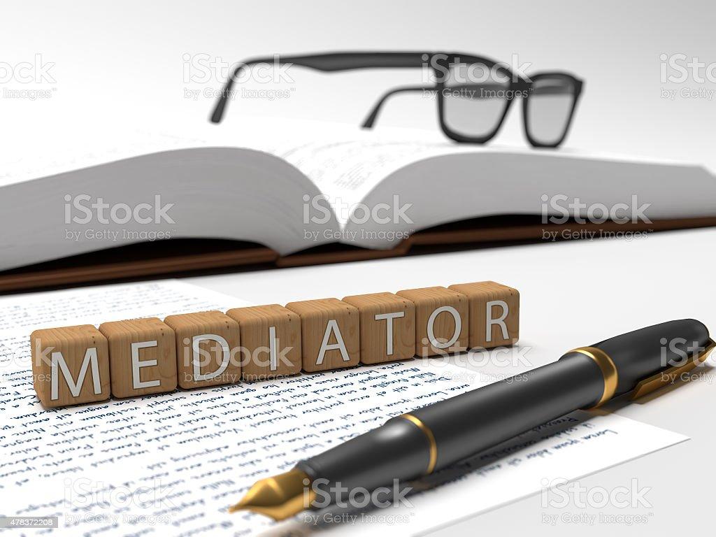 Mediator stock photo