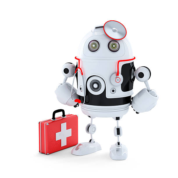 Medic Robot. stock photo
