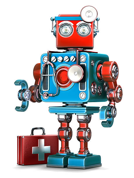 Medic Robot. Technology concept. Isolated. Contains clipping path stock photo