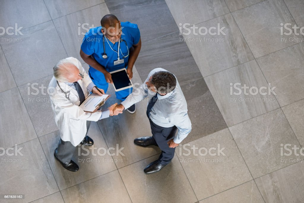 Medical agreement stock photo