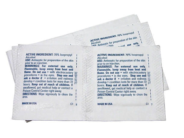 Medical: Alchohol Prep Pad  padding stock pictures, royalty-free photos & images