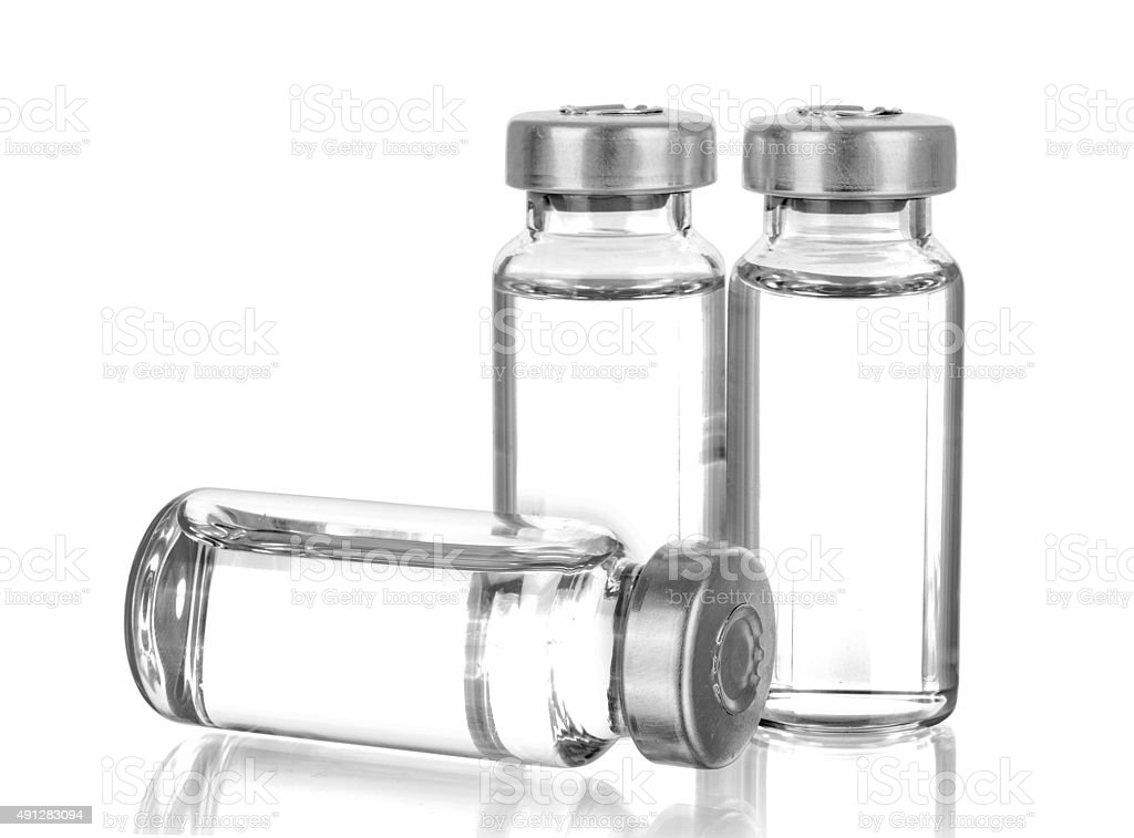 Medical ampoules stock photo