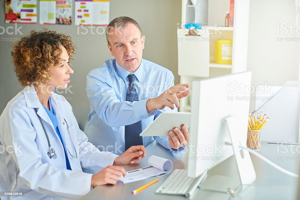 medical and business relationship stock photo